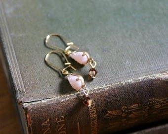 Pink Teardrop Dangle Earrings