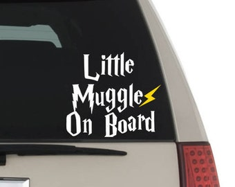 Little Muggles on Board Decal Sticker