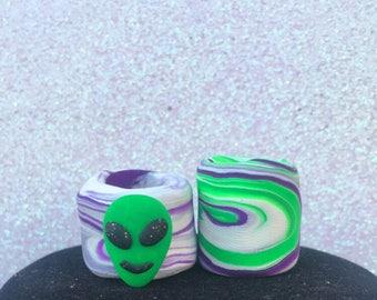 Extraterrestrial life - alien dreadbead set