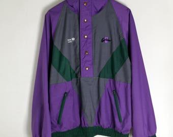 Jacket vintage Anorak Carlton men L XL 90s jacket Vintage anorak 90s bomber Vintage windbreaker 90s windbreaker Vintage bomber Jacket men l