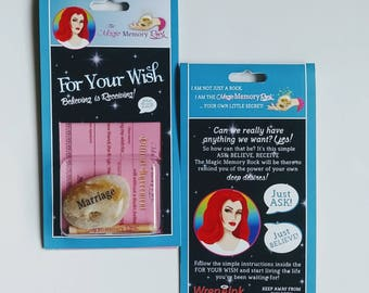 Stocking stuffers!  WISH FOR MARRIAGE manifest your dreams with a Magic Memory Rock, wishes, spiritual, psychic, unique gift,
