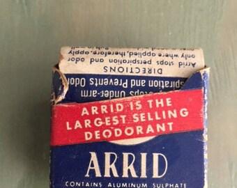 antique arrid deoderant in original packaging circa 1940
