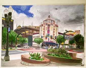 Original Oil Painting on Canvas - The Kress Building of El Paso Texas