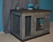 Frontier Dog Kennel Furniture, Custom Dog Crate Furniture, Wooden Dog Kennel, Indoor Dog Crate, Enclosed Dog Bed, Dog Furniture