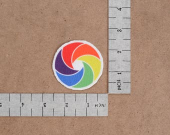 Camera Shutter Logo  Iron-On Printed Patch