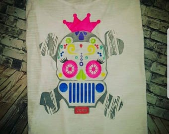 Sugar Skull Jeep Shirt