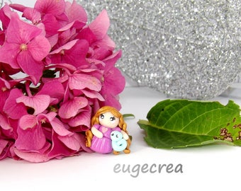 Little Princess with polymer clay ring