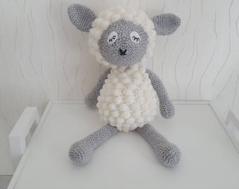 Sheep amigurumi plush