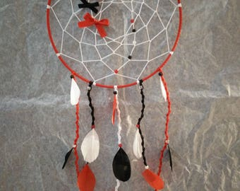 Black white red dream catcher feathers for sweet dreams