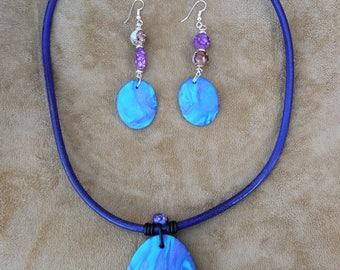 """Adornment necklace and earrings """"Bhutan"""" #bijouxoriginaux #bijouxturquoise #cadeaufemmesaintvalentin #handmadejewels"""