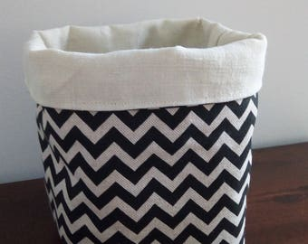 beige and black graphic planter