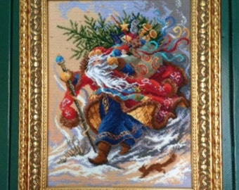 """The embroidered picture """"Christmas Fairy Tale"""""""