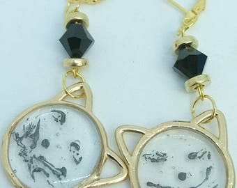 """Small cats mutineers"" earrings"