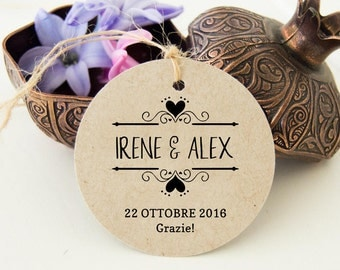 Thank You Labels, Tags, Labels, Custom Labels, Wedding Favor Gift Tags Kraft