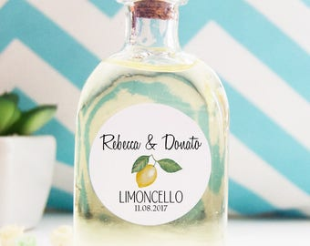 Custom Stickers, Stickers, Stickers Wedding Favors Limoncello Parcel