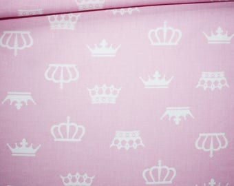 Fabric wreaths, 100% cotton, 50 x 160 cm crowns white on pink background