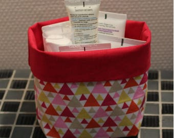 Basket of bath - reversible - triangle pattern