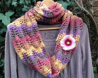 "Snood handknitted collection ""the four seasons"" summer"