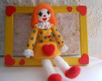 Bride of Romeo Juliet in felting wool.