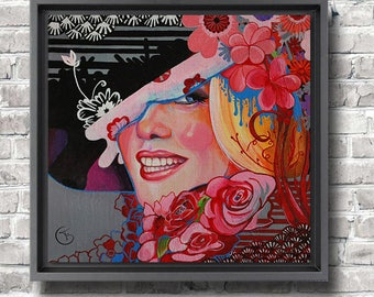 Colorful and modern painting Marylin Monroe  Original acrylic painting Art female portrait Wall decor Fine Art by Florence Bretécher