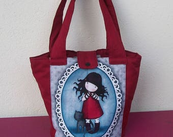 soft basket fabric with image girl