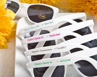 40 Personalised White Sunglasses - Set of 40