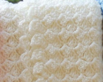 Cream Crochet Baby Blanket Baby Shower Gift