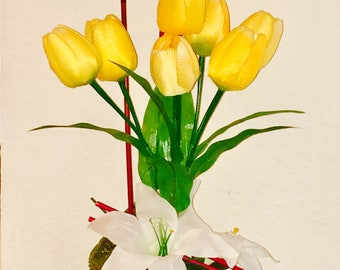 Yellow Tulips Flower Arrangement