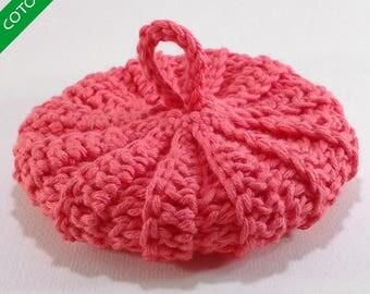 Organic pink petunia 10cms cotton Tawashi