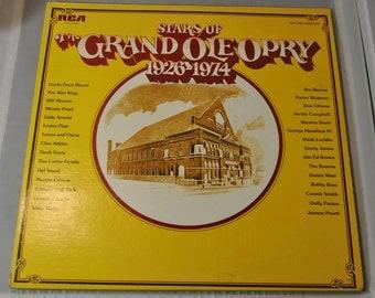 Vintage Stars of the Grand Ole Opry 1926-1974 vinyl record album 2 record set
