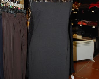 BLACK evening dress with sequins