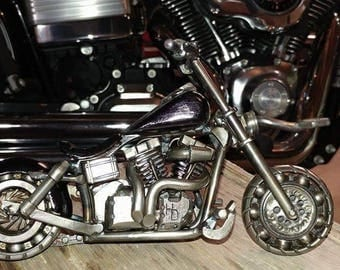 Hand made scrap metal Dyna Low sculpture