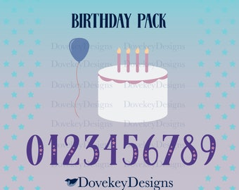 Birthday Pack for Cricut/Silhouette (svg)