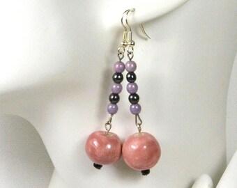 Earrings ' ear faience beads and glass beads