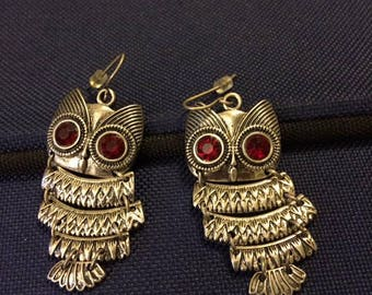 articulated Owl earrings