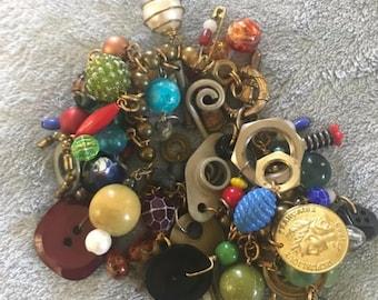 Vintage Eclectic Charm Bracelet