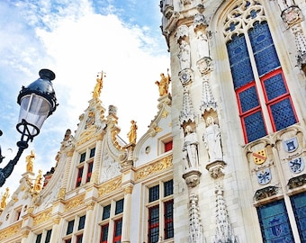 Bruges Square Fine Art Photography Download or Custom Art Print of Bruges Belgium, Travel Photos of Belgium, Photo Stock, Printable Wall Art
