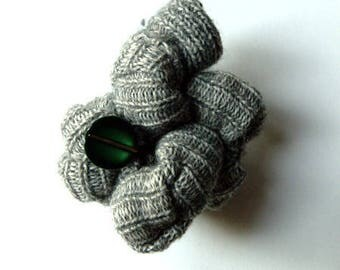 multi-node brooch the GREY