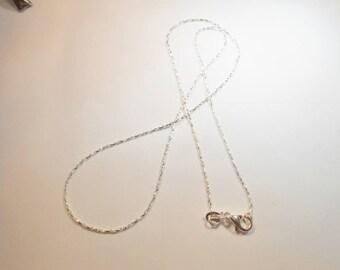 46 cm 925 Silver Serpentine chain. (SILVERSERP46)