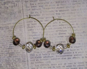gold sparkle earrings