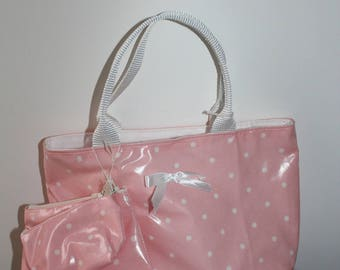 Pink girl with purse and wallet bag