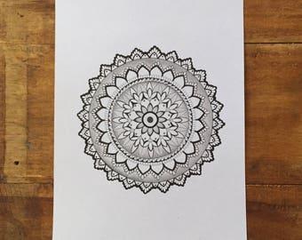 Large Hand Drawn Mandala