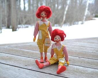 Two Remco Ronald McDonald Dolls, 1970s