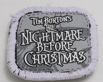 Tim Burton's The Nightmare Before Christmas Glitter Iron On Patch