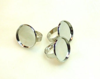 10 supports ring 20 MM cabochon