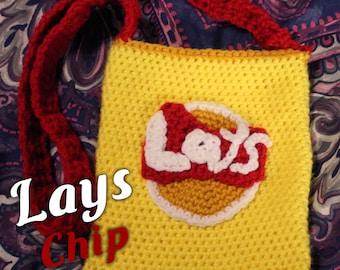 Funny Crochet Lays Chip Shoulder Bag Purse