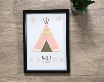 A4 Personliased Tipi Print