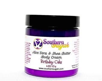 Aloe Vera and Shea Body Butter Cream-Birthday Cake