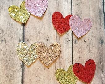 Valentine's Day glitter heart headband