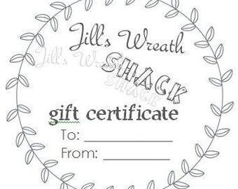 Jill's Wreath Shack Gift Cards